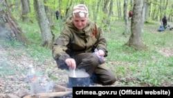 Полевая кухня на «партизанской маевке» на Ангарском перевале, Крым, 2 мая 2019 года