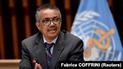 Директорот на Светската здравствена организација Тедрос Аданом Гебреизус.