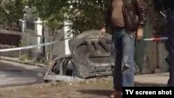 Zapaljeni automobil posle ubistva Radeta Rakonjca