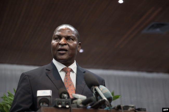 The president of the Central African Republic, Faustin-Archange Touadera