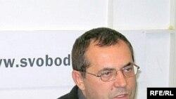Борис Надеждин в студии Радио Свобода