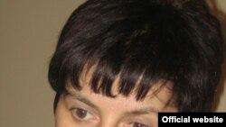 """Элла Кесаева, лидер комитета """"Голос Беслана"""", во время бессрочной голодовки"""