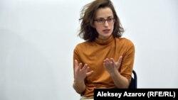 Директор и актриса АРТиШОКа Анастасия Тарасова. Алматы, 18 октября 2017 года.