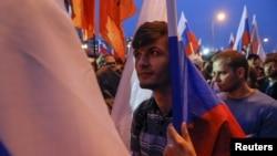 Акция сторонников российской оппозиции в Москве. 20 сентября 2015 года.