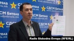 Виктор Ковачевски, претедател на СДСМ Битола.