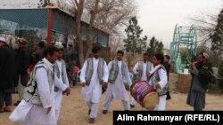 تیم اتن در یک عروسی در شهر شبرغان. May 04 2019