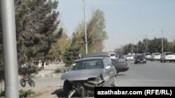 turkmenistan. car accident in ashgabat