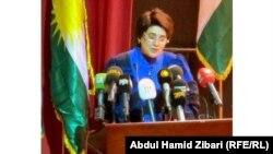 الناشطة ليلى زانا تتحدث في أربيل