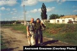 Александр Клешнев (слева). Лето 2014 года