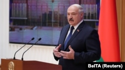 President Alyaksandr Lukashenka said he decided to push forward his address from its scheduled time in April because of the coronavirus pandemic. (file photo)