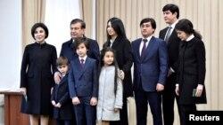 Prezident Shavkat Mirziyoev və ailəsi