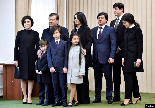 Семья президента Узбекистана Шавката Мирзияева.