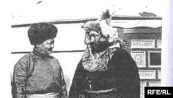 Слева - глава правительства Монголии Чойболсан, справа - Оспан батыр.