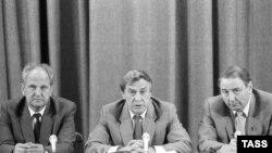 Члены ГКЧП на прэсавай канфэрэнцыі, 19 жніўня 1991