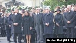 Președintele Klaus Iohannis și alte oficialități române la funeraliile Regelui Mihai - București, 16 decembrie 2017