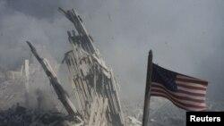 Ruševine nakon napada na Svetski trgovinski centar 11 septembra 2001. godine