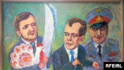 """Выставка """"Крепитесь люди, скоро лето"""": Никита Белых дарит Дмитрию Медведеву лыжи вятского производства"""