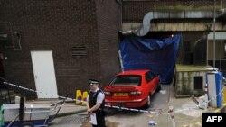 محلی در مرکز لندن که پنج مظنون در آن دستگیر شدند