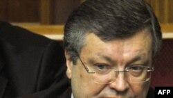 Міністар замежных спраў Украіны Канстантын ГрышчанкаHryshchenko at parliament in Kyiv, 11Mar2010