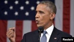 ԱՄՆ նախագահ Բարաք Օբաման Կոնգրեսի առջև հանդես է գալիս ամենամյա ուղերձով, Վաշինգտոն, 21-ը հունվարի, 2015թ․