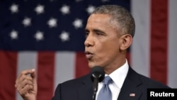 Барак Обама выступает перед Конгрессом с докладом о положении страны 20 января 2015 года