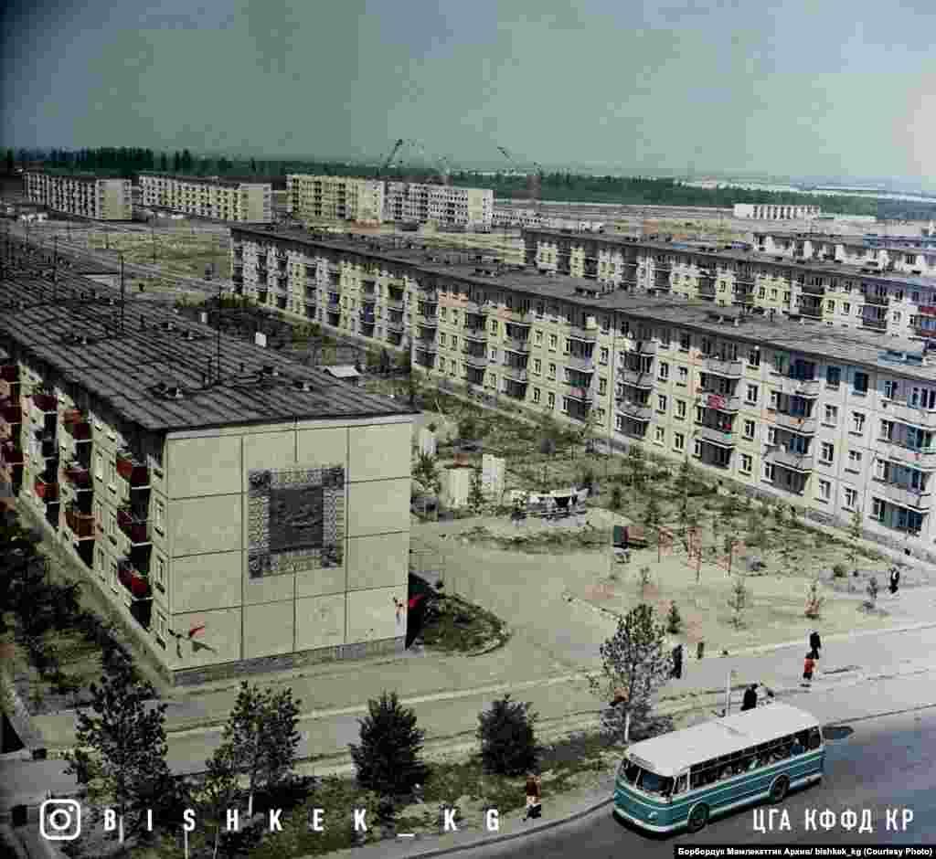Фрунзе шаарынын 9-кичи району. 1978-жыл.