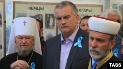 Митрополит Лазар, Сергій Аксенов і Еміралі Аблаєв (зліва направо), архівне фото