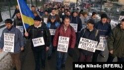 Protest radnika: Iz Živinica pješke do Sarajeva
