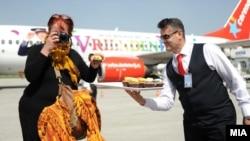 Аеродромот во Охрид.