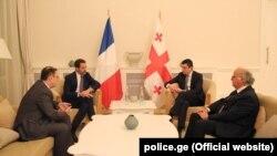 საქართველოს და საფრანგეთის შინაგან საქმეთა მინისტრების, გიორგი გახარიას და კრისტოფ კასტანერის შეხვედრა
