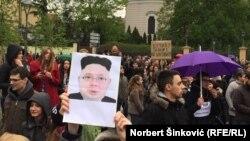 Protest u Novom Sadu, 7, aprila