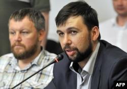 Андрій Пургін (ліворуч) і Денис Пушилін, Донецьк (2014 рік)