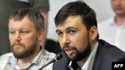 Лидерот на проруската сепаратистичка група Република на жителите на Доњецк, Денис Пушилин