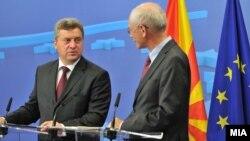 Средба на претседателот Ѓорге Иванов и Херман Ван Ромпуј претседател на Советот на Европската Унија ,Брисел.