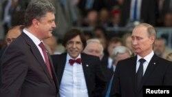 Petro Poroshenko və Vladimir Putin