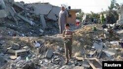 Prizor nakon izraelskog vazdušnog napada na Gazu, arhiv