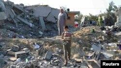 Prizor nakon izraelskog vazdušnog napada na Gazu, juli 2014.