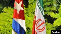 Zastave Kube i Irana