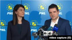 Violeta Alexandru - președintele PNL București și Nicușor Dan - candidat independent la Primăria Capitalei