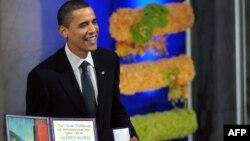 Barack Obama na dodjeli Nobelove nagrade, 2009.