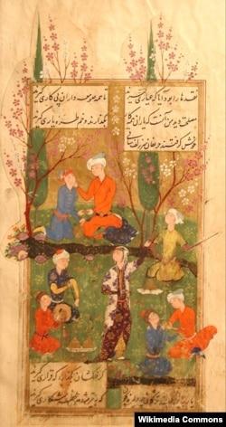 Hafizin divanı, Miniatür, 1585