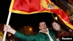 Приврзаници на опозицијата ја слават победата на нивниот кандидат Миодраг Лекиќ