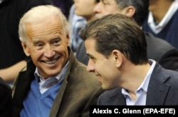 Joe Biden (left) with his son Hunter, pictured in Washington, D.C. in January 2010.