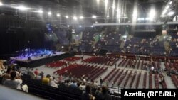 """Татнефть-Арена"" сәхнәсе Стинг концерты алдыннан. 2 июль 2011"