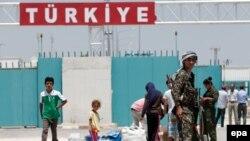 مرز ترکیه با سوریه در منطقه تل ابیض