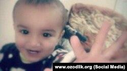 2-летний Мухаммадсадык Нумонжонов.