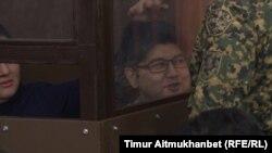 Бывший министр национальной экономики Казахстана Куандык Бишимбаев в суде по его делу. Астана, 8 января 2018 года.