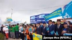 Акция в Шымкенте против «нетрадиционных» религиозных течений.