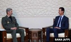 Министр обороны Ирана Амир Хатами в гостях у Башара Асада в Дамаске. Август 2018 года