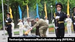 Церемонія запалення «Вогню пам'яті» у Запоріжжі, 8 травня 2017 року